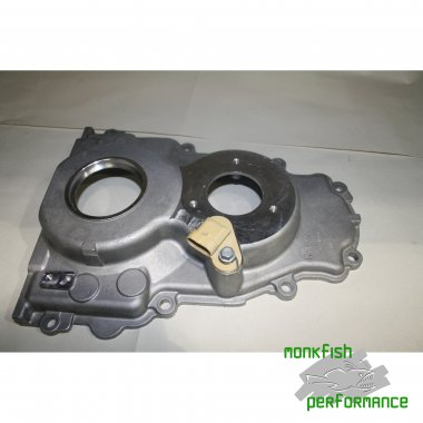 Timing chain cover for engines fitted with VVT